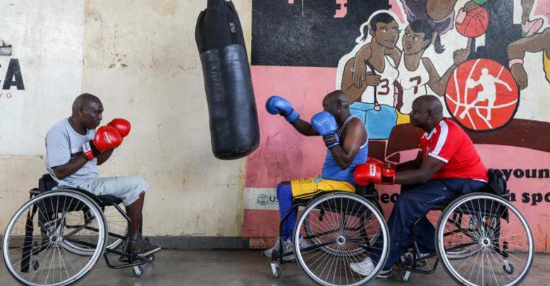 Boxean sobre sillas de ruedas con un sueño 1