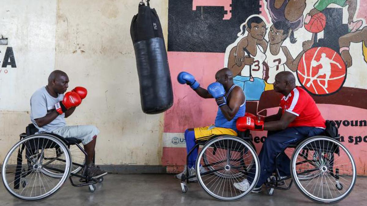 Boxean sobre sillas de ruedas con un sueño 2