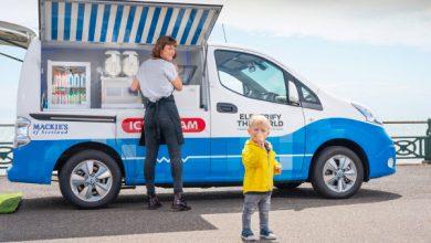 Photo of La furgoneta de helados de cero emisiones de Nissan usa baterías EV viejas para mantener las cosas frescas