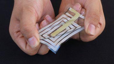 Los sensores adhesivos flexibles pueden monitorear de forma inalámbrica su sudor y pulso