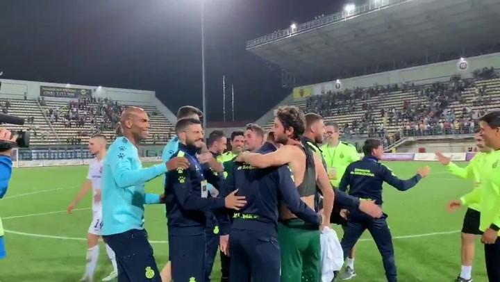 El Espanyol celebra su clasificación a Europa 12 años después