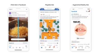 Facebook amplía sus formatos de anuncios jugables y AR
