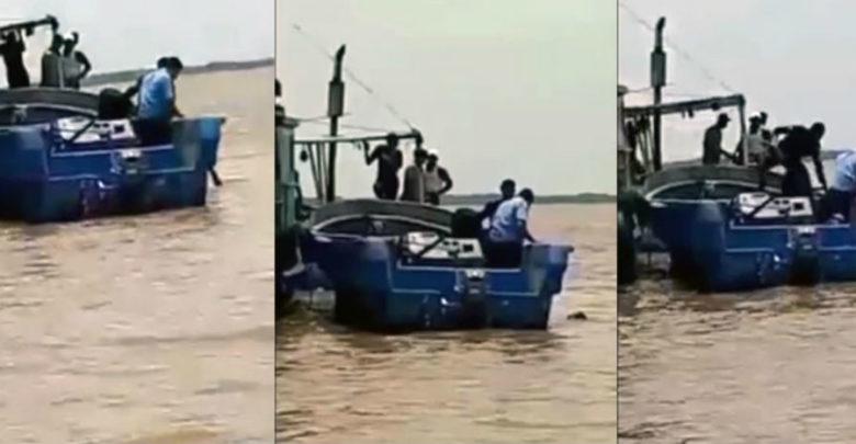 Policías nicaragüenses dejan morir ahogado a joven en muelle municipal