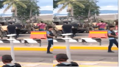 Difunden video donde militar choca el puño con sicario; fin a la guerra entre el gobierno y el narco (VIDEO)