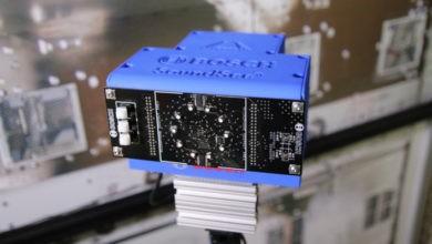 """El nuevo """"oído"""" de Bosch para el robot Astrobee de la Estación Espacial le permitirá """"escuchar"""" posibles problemas mecánicos"""