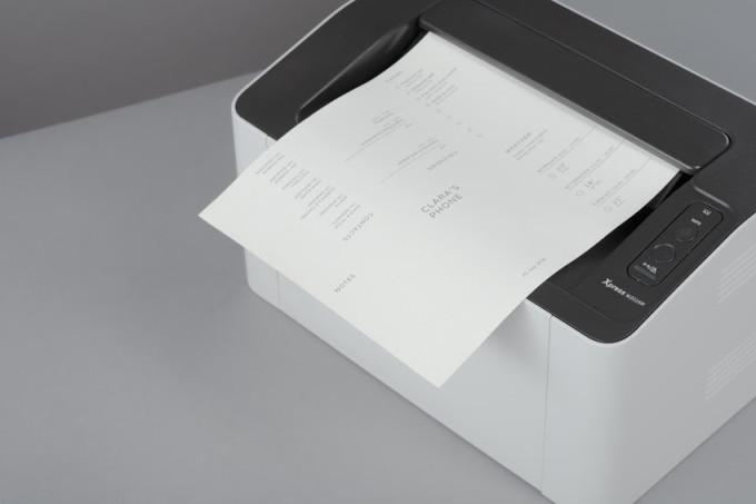 teléfono de papel