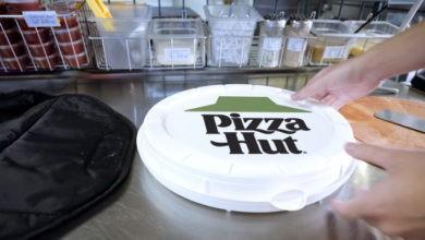 Pizza Hut está probando las cajas redondas compostables de Zume