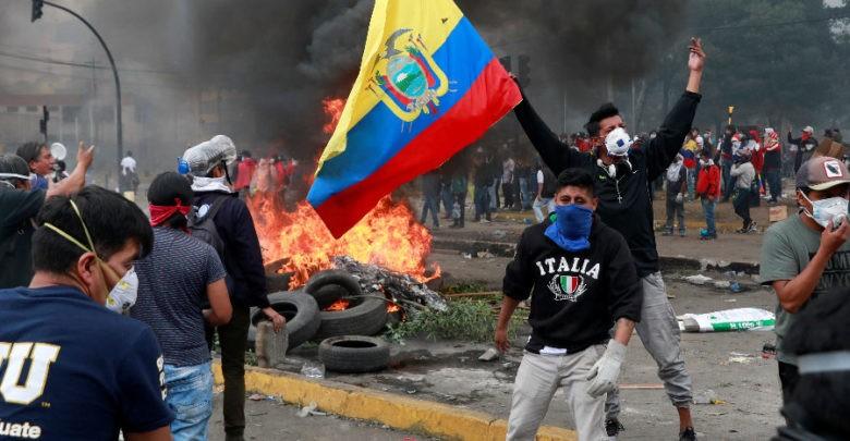 Recrudecen las protestas en Ecuador; reportan nuevos heridos en enfrentamientos   Videos