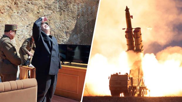 [TLMD - NAT] Kim Jong Un desafiante: dispara enorme lanzacohetes