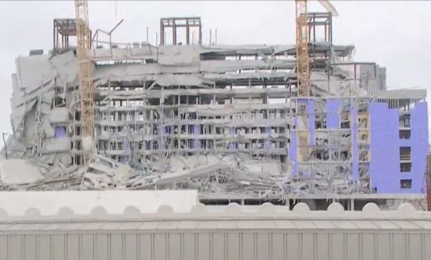 [TLMD - NAC] En video: se desploma construcción de hotel Hard Rock