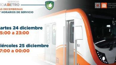 Photo of ¡Que no se te olvide! Metro tendrá horario especial en Navidad y Año Nuevo