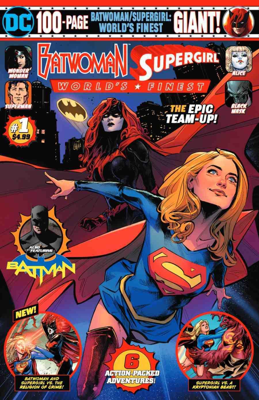 Batwoman Supergirl Worlds Finest Giant # 1