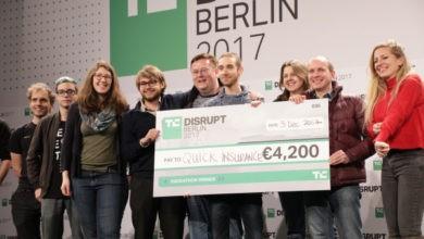 Photo of Echa un vistazo a los premios para TC Hackathon en Disrupt Berlin