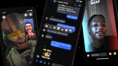 Facebook Messenger agrega características temáticas de Star Wars y efectos AR