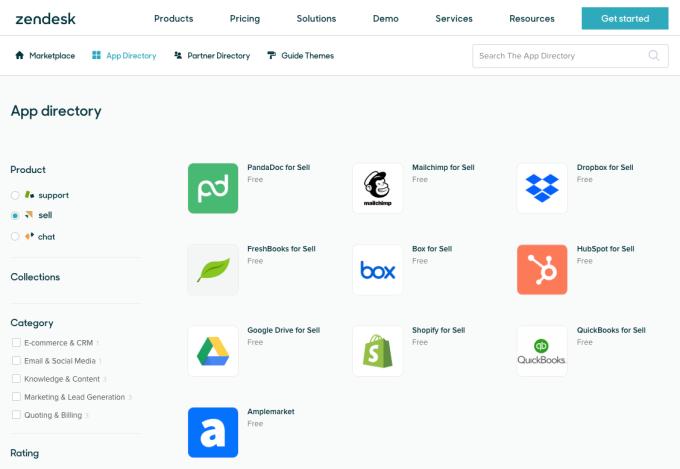 Zendesk lanza Sell Marketplace para llevar la tienda de aplicaciones al producto CRM 2