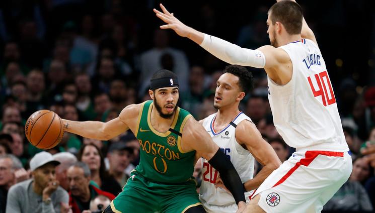 Celtics ganan a los Clippers en 2 prórrogas 1
