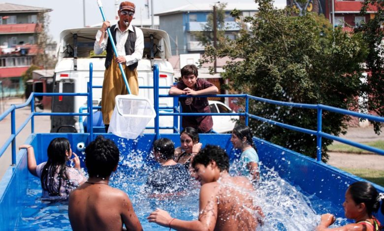 """Video: la """"piscina móvil"""" que es furor entre los niños 1"""