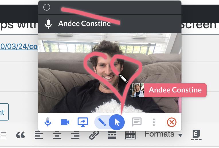 Controle las aplicaciones de los demás con la nueva herramienta de pantalla compartida. 1