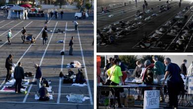 Photo of Las Vegas: ponen a indigentes a dormir en rectángulos pintados en estacionamiento