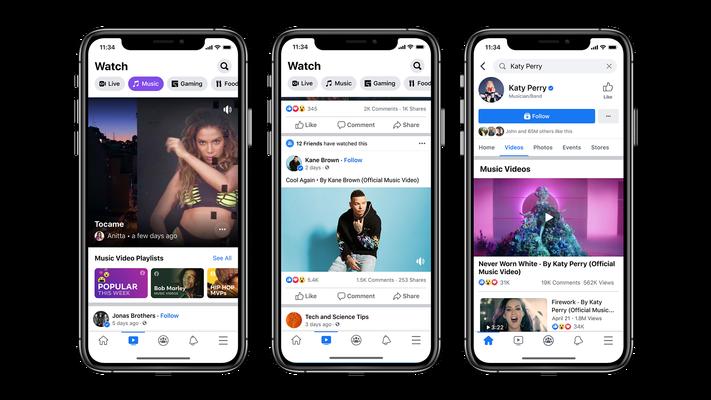 ¡Ya podrás ver videos musicales oficiales en Facebook!