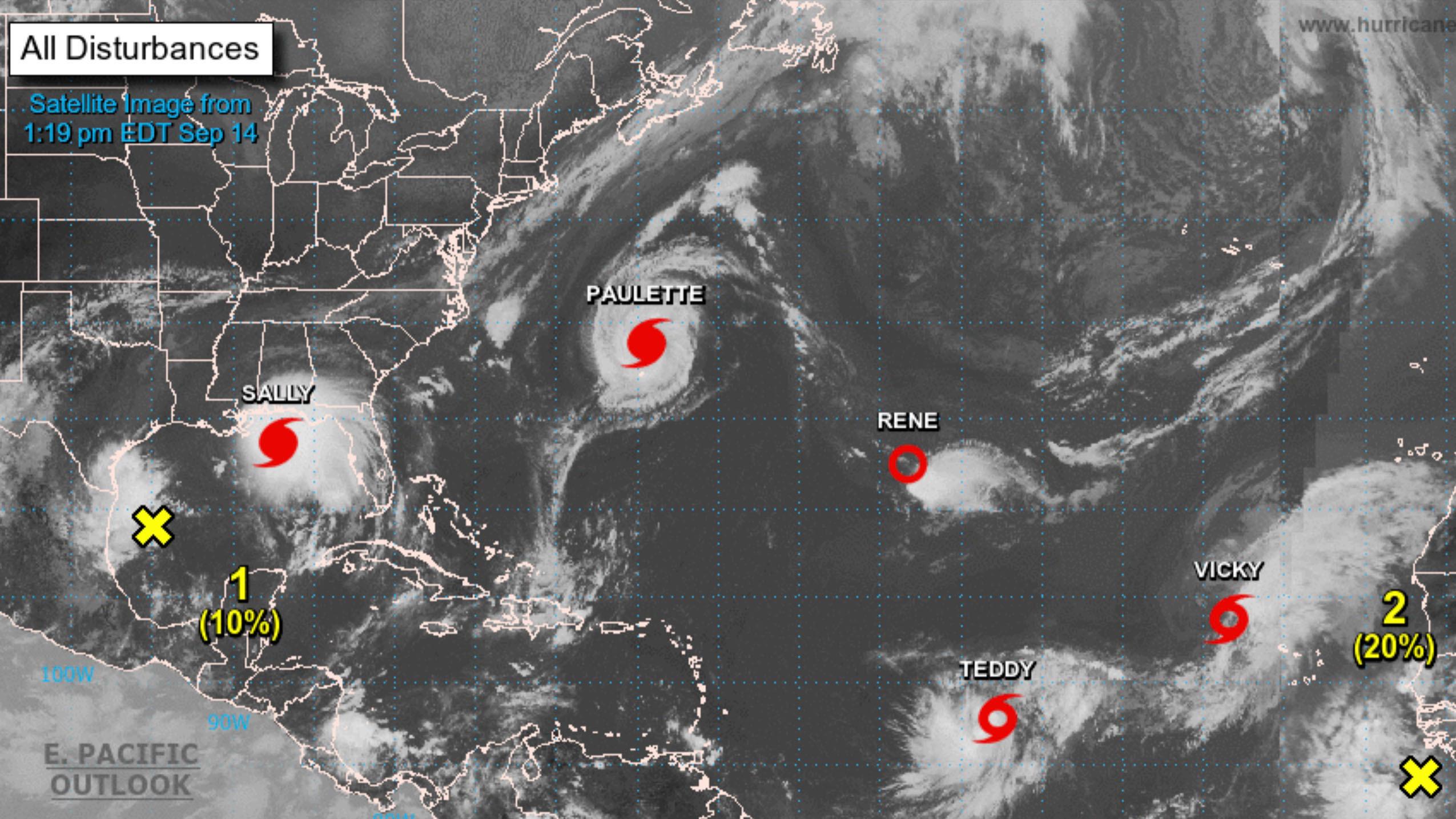 Con tantas tormentas en el Atlántico, se agotan los nombres ¿cómo se llamarán entonces? 2