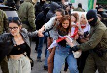 Photo of Más de 200 detenidos en una manifestación de mujeres contra Lukashenko
