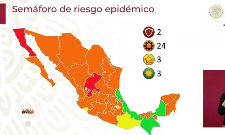 Semáforo Covid: Reportan 10 estados en condiciones de riesgo de retroceder a rojo 1