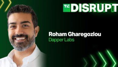 El CEO de Dapper Labs, Roham Gharegozlou, viene a Disrupt
